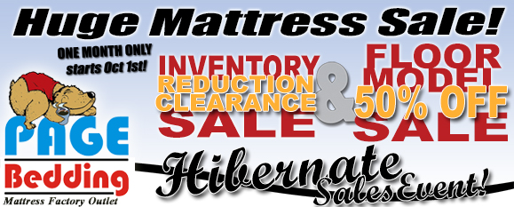 Hibernation Sales Event...happening the entire month of October!