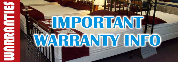 Important Page Bedding Warranty Information