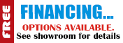 Financing options available.  See showroom for details.